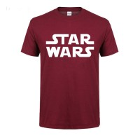 Star Wars Printed Round Neck T-Shirt in Maroon