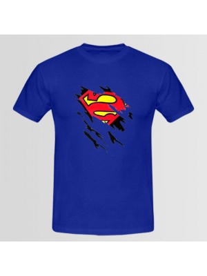 Superman Updated Printed Round Neck T-Shirt
