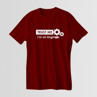 Trust Me Round Neck T-Shirt in Maroon