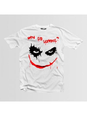 Why So Serious Printed Round Neck T-Shirt in White