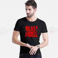 Beast Mode Round Neck T-Shirt in Black