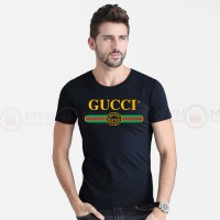 Gucci Round Neck T-Shirt in Black