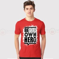 Be Your Own Printed Round Neck T-Shirt in Red