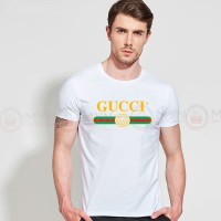 Gucci Printed Round Neck T-Shirt in White
