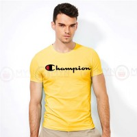 Champion Round Neck T-Shirt in Yellow