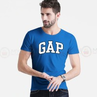 GAP Printed Round Neck T-Shirt in Royal Blue