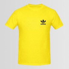 Adidas Small Logo Printed Round Neck T-Shirt D 2
