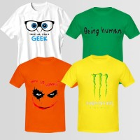 Bundle Of 4 Round Neck T-Shirts D4