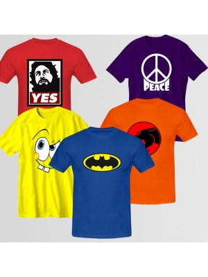 Bundle Of 5 Round Neck T-Shirts D3
