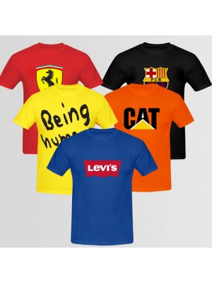 Bundle Of 5 Round Neck T-Shirts D6