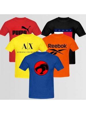 Bundle Of 5 Round Neck T-Shirts D8