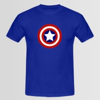 Captain Shield Printed Round Neck T-Shirt