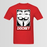 Disobey Printed Round Neck T-Shirt's