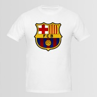 FCB Flag Printed Round Neck T-Shirt