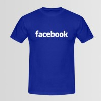 Facebook Printed Round Neck T-Shirt