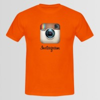 Instagram Printed Round Neck T-Shirt