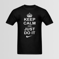 Keep Calm & Just Do It Printed T-Shirt