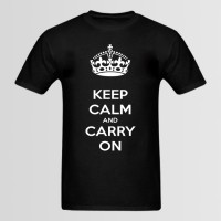 Keep Calm and carry On Printed Round Neck T-Shirt's