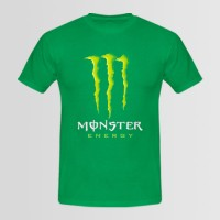 Monster Printed Round Neck T-Shirt