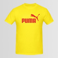 Red Puma Printed Round Neck T-Shirt