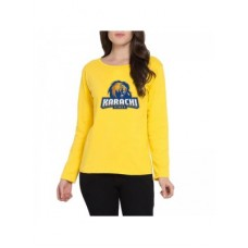 Karachi Kings Psl Women T-Shirt in Yellow