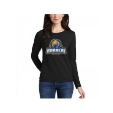 Karachi Kings Psl Women T-Shirt in Black