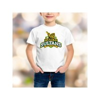Multan Sultans Psl Kids T-Shirt in White