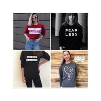Bundle of 4 Printed T-Shirts For Women wts-034