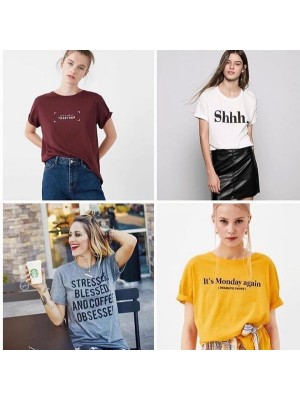 Bundle of 4 Printed T-Shirts For Women wts-035