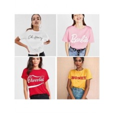 Bundle of 4 Printed T-Shirts For Women wts-036