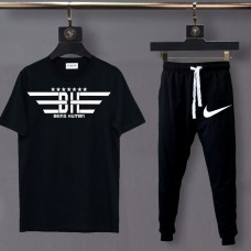 Being Human Black Summer Tracksuit For Men's