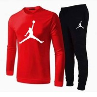 Jordan Red Full Sleeves T-Shirt & Trouser For Men