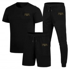 Pack of 3 Gucci Black Summer Tracksuit For Men's
