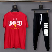 United Red Summer Tracksuit For Men