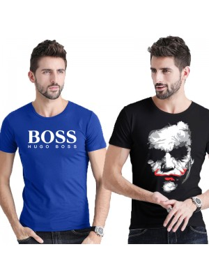 Bundle of 2 Printed T-Shirt For Men's TS-02