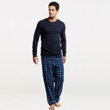 Bundle of check pajama & Black Full Sleeves T-Shirt