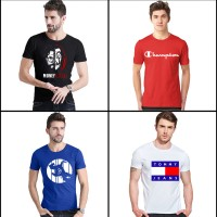 Bundle of 4 Printed T-Shirt For Men's Ts-010