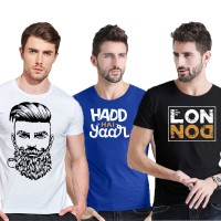 Bundle of 3 Half Sleeves Printed T-Shirt Ts-003