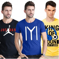 Bundle of 3 Half Sleeves Printed T-Shirt Ts-006