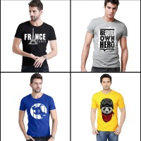 Bundle of 4 Half Sleeves Printed T-Shirt Ts-009