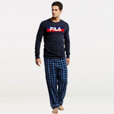 Bundle of check pajama & Fila Full Sleeves T-Shirt