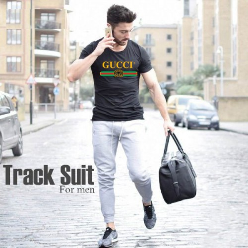 Gucci Black Summer Tracksuit For Men's