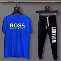 Boss Blue Summer Tracksuit For Men