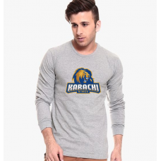 Karachi Kings Grey Full Sleeves T-Shirt