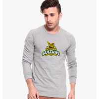 Multan Sultans Grey Full Sleeves T-Shirt