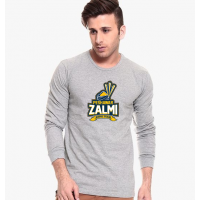 Peshawar Zalmi Grey Full Sleeves T-Shirt
