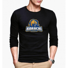 Karachi Kings Black Full Sleeves T-Shirt