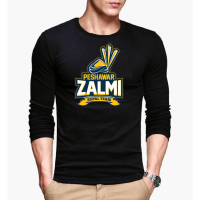 Peshawar Zalmi Black Full Sleeves T-Shirt