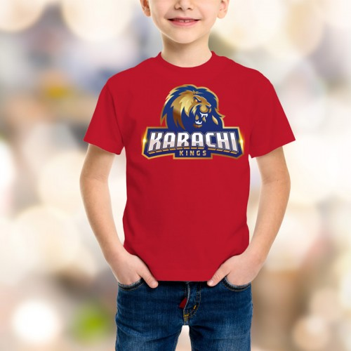 Karachi Kings Psl Kids T-Shirt in Red