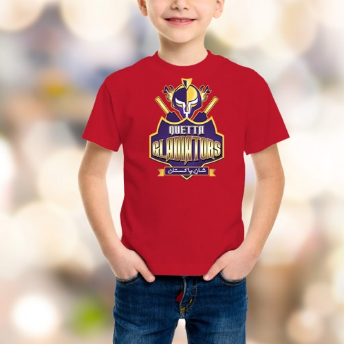 Quetta Gladiators Psl Kids T-Shirt in Red
